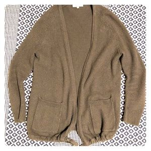 Madewell cardigan—with pockets and drawstring pull